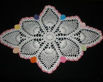 Easter Egg Oval Pineapple Doily