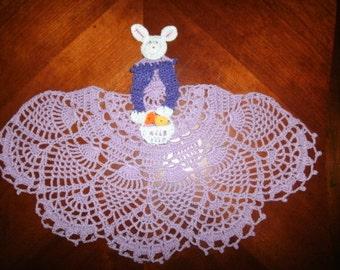 Easter Bunny Cronoline Lady Crochet Doily