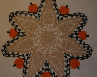 New Thanksgiving Pumpkin Doily