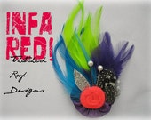 RESERVED LISTING  For T.R.  (Infa-Red, Petite Hair Clip)