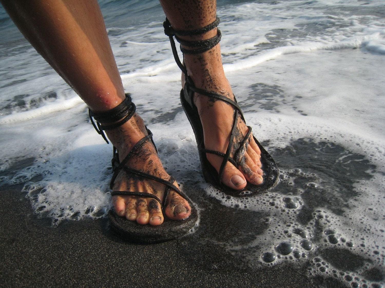 Womens sandals etsy - Unisex Maori Sandal Chocolate Brown Handmade Leather Adjustable Women Men Lace Up Sandals Flats Renaissance