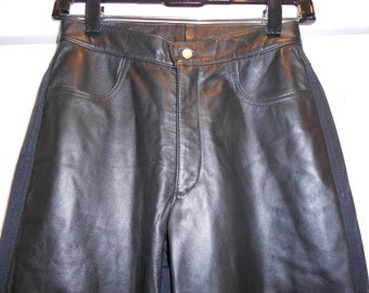 Womens Vintage Leather  Front Pants by Neto Size 2 Unworn Nos