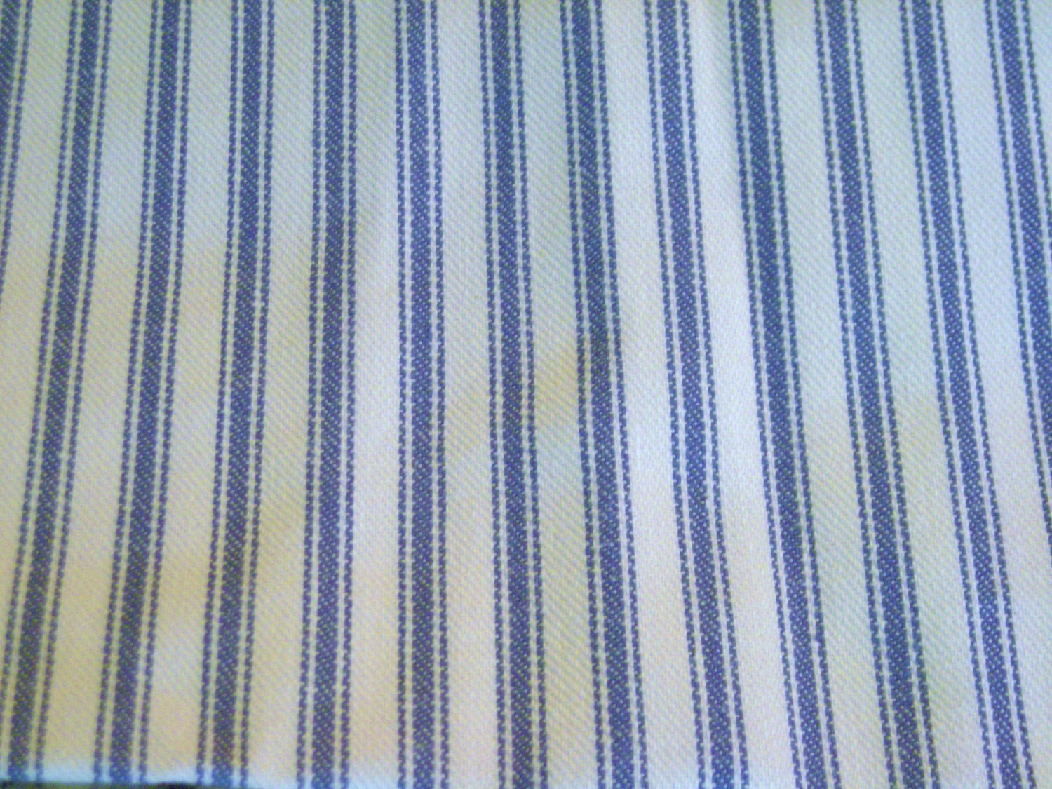 vintage fabric blue and white stripe ticking 1 yards. Black Bedroom Furniture Sets. Home Design Ideas