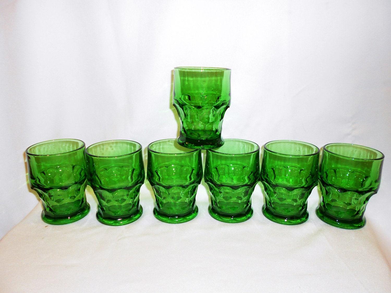 Vintage Green Glasses 35