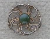 Stunning Danecraft Sterling Silver-Vermiel Brooch