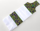 Hanging Kitchen Towel-Purple and green swirl