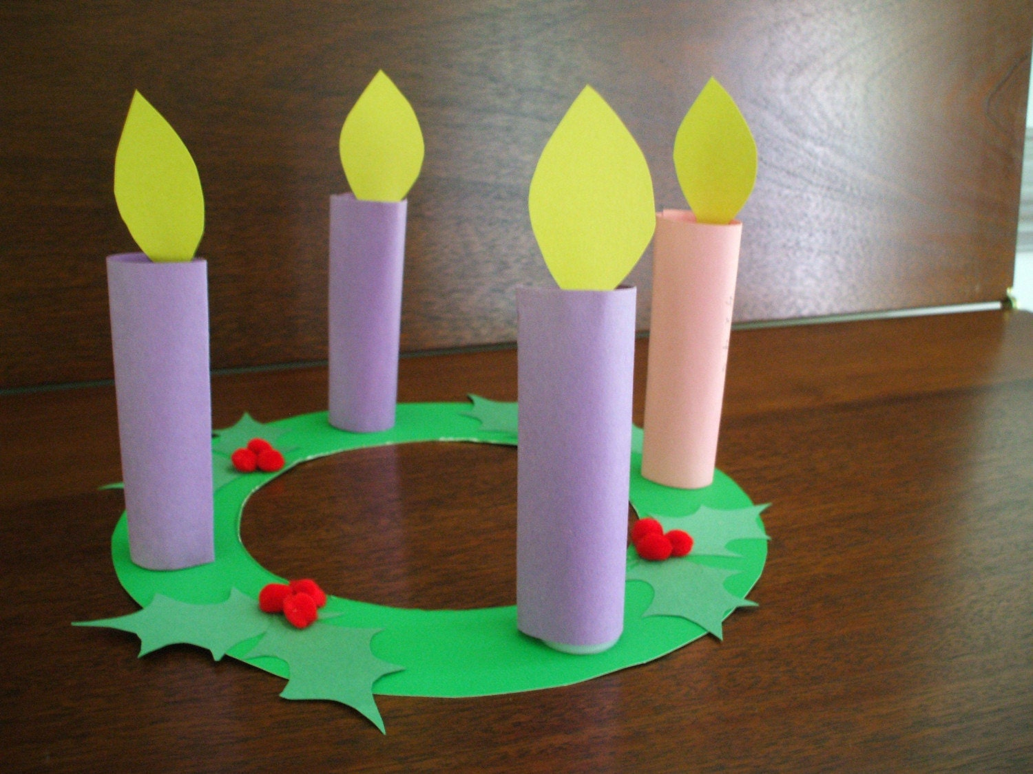 advent wreath children's craft kit by GraceHill on Etsy