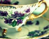 BOGO SALE 5x7 Violet Teacup Fine Art Photographic Print