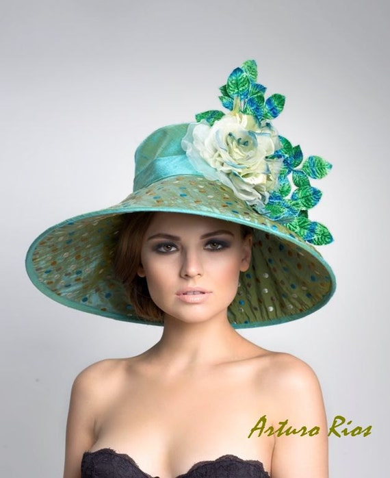 Couture Derby Hat-- Lampshade Hat-- kentucky Derby Hat