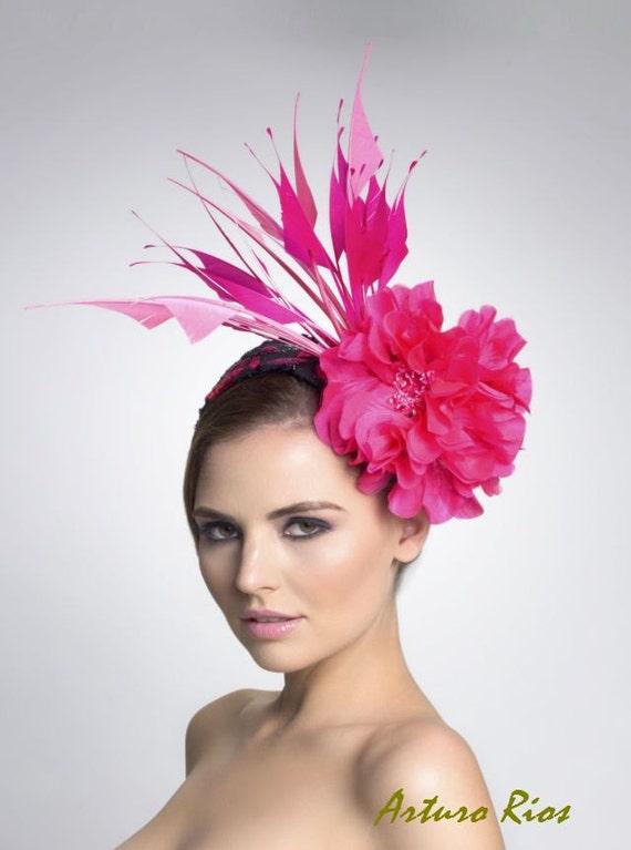 Hot Pink fascinator- Headpiece