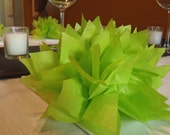 10 Citrus Green Paper Dahlias. Perfect for spring weddings, cute baby showers and fun dinner parties. Tissue paper pom pom