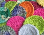 Face Scrubbies Eco Friendly Cotton Crochet Seven