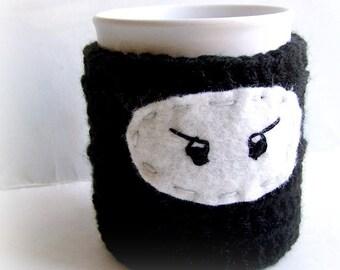 Ninja Coffee Mug Tea Cup Cozy handmade cover