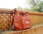 Leather backpack Zoey brown--handmade Leather bag/ Messenger/ Diaper bag/ Shoulder bag/ Tote/ Handbag/ Hip bag/ Women