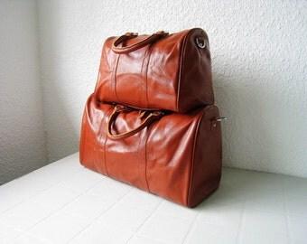 Adeleshop handmade weekend carry on duffel bag LARGE in brown