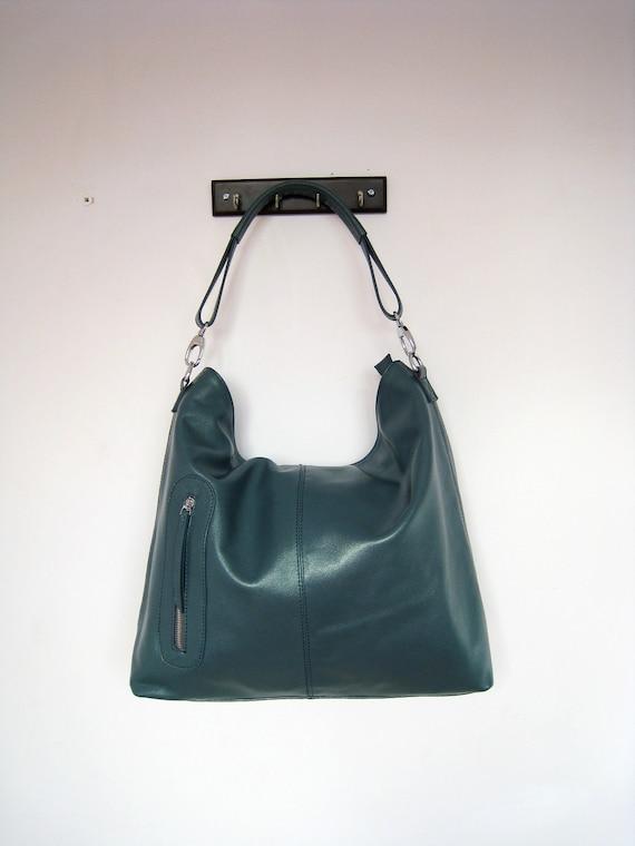 Handbag Max pearl blue---Adeleshop handmade Leather bag/ Messenger/ Diaper bag/ Shoulder bag/ Tote/ Handbag/ Hip bag/ Women