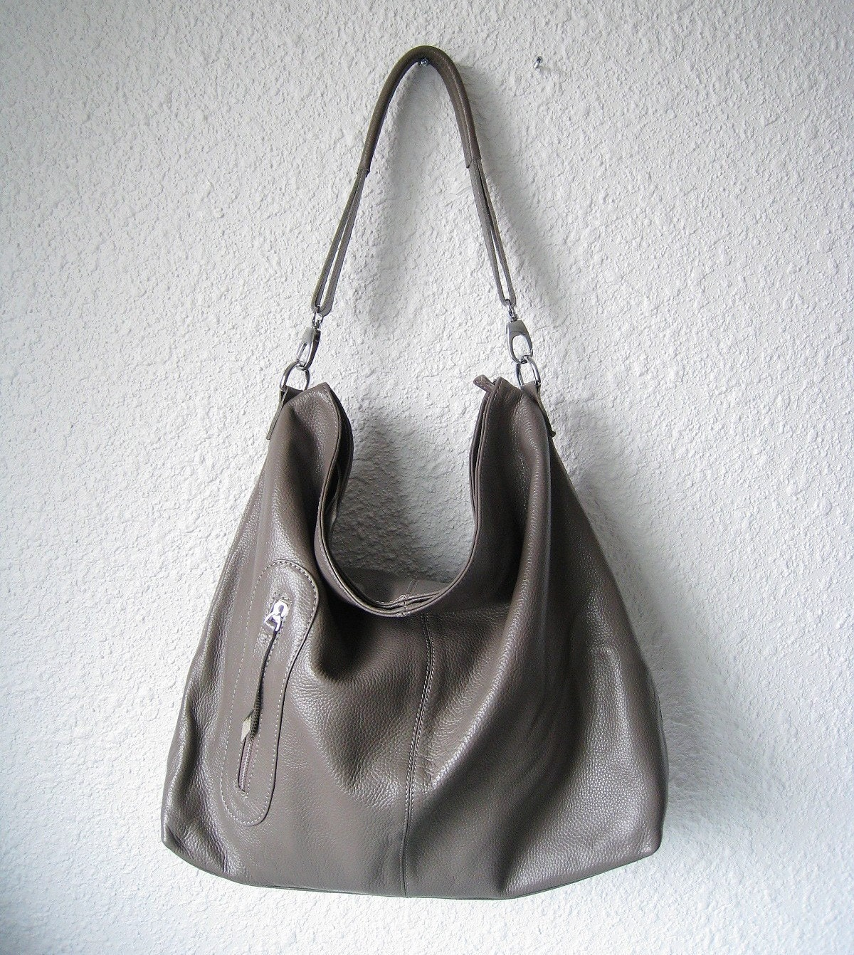 Shop gray leather bag at Neiman Marcus, where you will find free shipping on the latest in fashion from top designers.