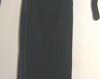 Blk Velvet 1950's Floor Length Dress