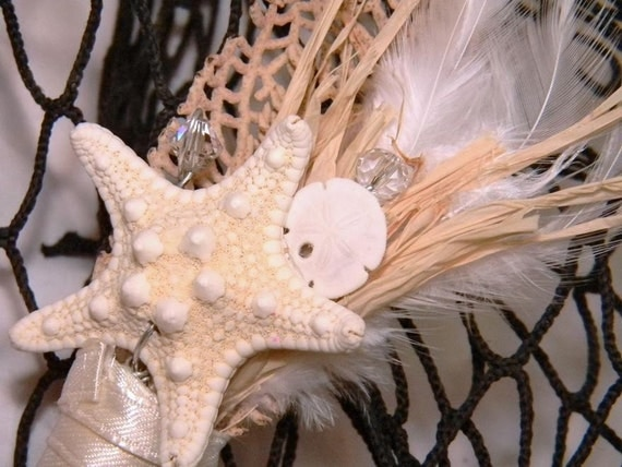 Jackson - Starfish and Sand Dollar boutonniere