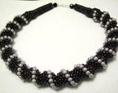 Pearls Iris Dutch Spiral Necklace