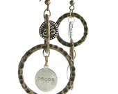 Two Circle Om and Peace Dangles