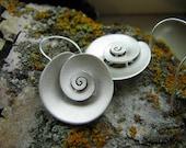 Nautilus - dangle Earrings - Sterling silver