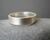 Unisex Sterling Silver Wedding Band - Mens ring- Satin Matte or Mirror shine