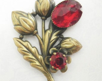 Vintage 1920s Thistle Pin