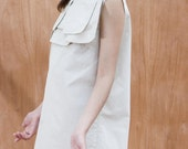 FREE SHIPPING-LOVELY CREAM  DRESS WITH BEAUTIFUL DETAILS