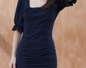 FREE SHIPPING-FEMININE AND TIGHT SHORT COTTON JERSEY DRESS