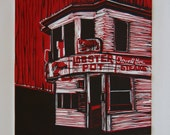 Lobster Pot, Provincetown - original linocut