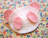 Fairy Kei Kawaii Pink Panda Hair Clip