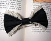Gothic Lolita Black Dark Classic Hair Bow