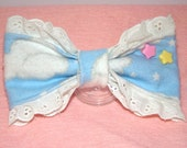 Fairy Kei Pastel Blue Clouds Hair Bow
