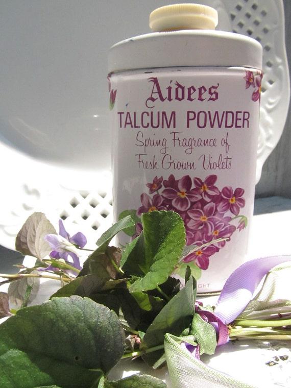 Vintage Powder Tin - Vanity Decor - Floral Tin - Shabby Chic Reserved for Lynn