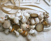 Shell Cluster Statement Necklace SALE (Was 32)