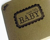 Blank Mini Note Cards Sweet Baby Set of 5