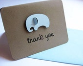 Baby Thank You Cards, Elephants