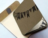 Cards Blank Mini Banner Set of 5