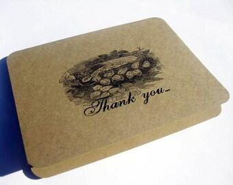 Thank You Card Vintage Nest Set of 5