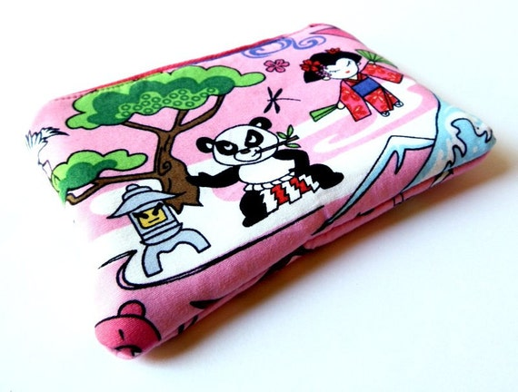 Zip coin purse Japanese anime cartoon kawaii cute pink
