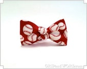 The Cooperstown - Red Baseball bow Tie