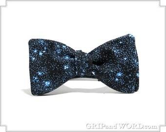 The Sagan - Dark Blue Cosmic Freestyle Bow Tie