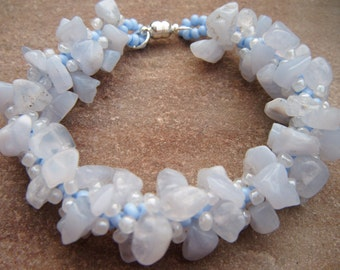 Blue Lace Agate Spiral Bracelet
