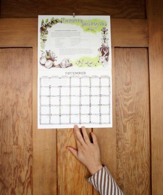 SALE 2010 The Illustrated Wild Foods Recipe Calendar