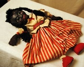 RESERVED justhisyr 1900s Americana Composition Black Girl Marionette Puppet