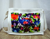 Kitschy Rainbow Peacock Embroidered Bag