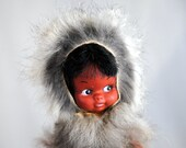 Mini Kitschy Real Fur Eskimo Doll