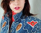 Vintage 80s Southwest Jeweled Western Jacket Coat - by Trump