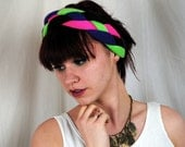 Amazing Thick Neon Braided 80s Head Band